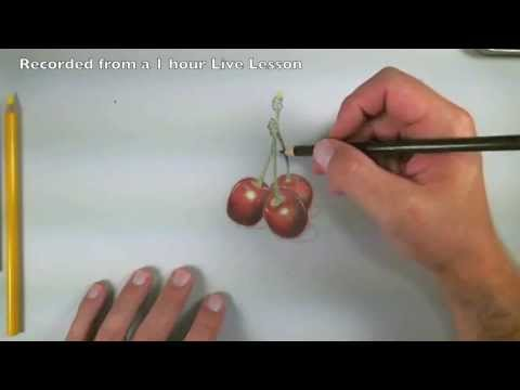 How to Draw with Colored Pencils - Cherries Excerpts
