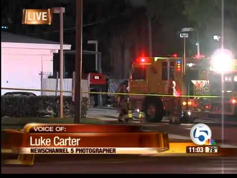 Gas station fire in Palm Beach Gardens