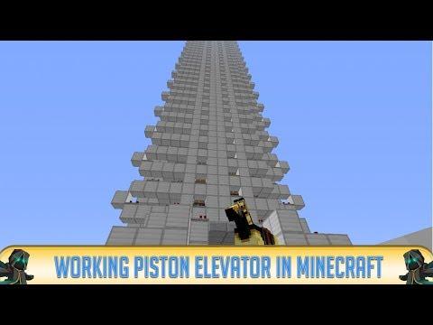 Minecraft 1.7.10: Piston Elevator in Minecraft! Fast & Simple Elevator (2014