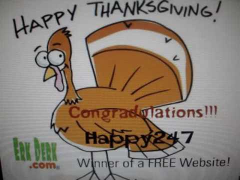 Thanksgiving Contest Winner