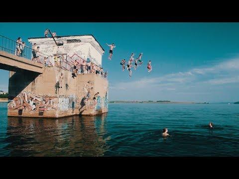 Домик. Прыжки в воду на плотине ГЭС 2017
