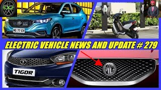 E V NEWS AND UPDATE 2019//MG eZS electric suv update/tata tigor electric update/ather scooter update