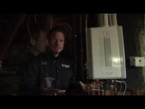 Gas-fired Water heater Replaced with High Efficiency Tankless Water Heater