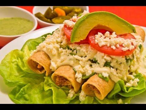 Recetas infantiles tacos dorados mexicanos de pollo youtube - Tacos mexicanos de pollo ...
