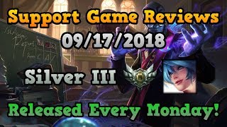 Support Game Reviews - Silver III Sona - 9/17/18