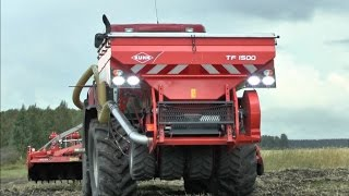 Case IH Puma 210 with Kuhn BTFR, MTZ with Kuhn MDS mineral fertilization and sowing winter triticale