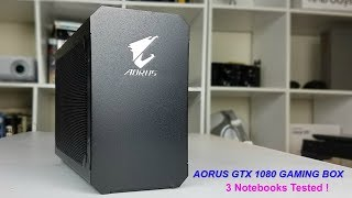 GTX 1080 on a tablet ? Aorus GTX 1080 Gaming box - 3 Notebooks Tested