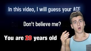 This Video Can Accurately Guess Your Age
