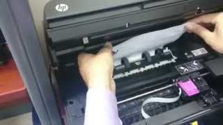 Fixing a paper jam - HP officejet 4630 All-in-one wireless printer -Fixing a paper jam