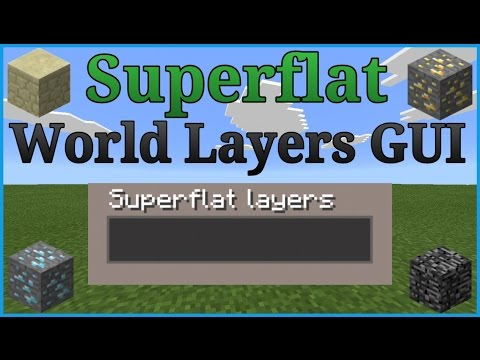 MCPE Super Flat Layer GUI