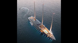 Melnichenko family boards S/Y A in Puerto Banus, World's Largest private Sailing yacht
