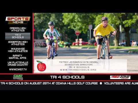 THE SPORTS NEWS | Tri 4 Schools | Patrick Johnson & Katie Hensel