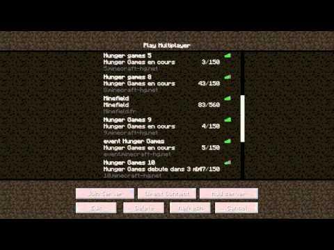 Minecraft-Tutoriel : Aller sur un serveur Hunger Games