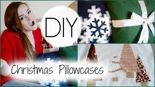 04. DIY Christmas Pillowcases +GIVEAWAY!