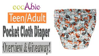 Eco Able Youth/Adult Pocket Diaper Guide & Giveaway