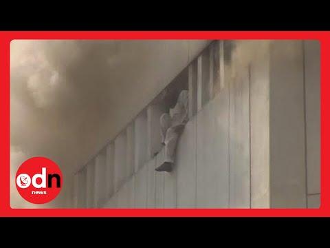 مواطنون يرتمون من الطابق 20 بسبب حريق شب في عمارة بباكستان