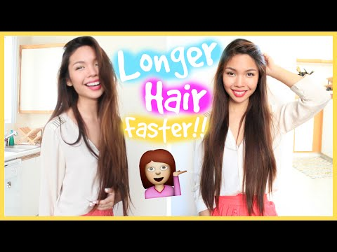 How To Grow Out Your Hair Longer & Faster! video