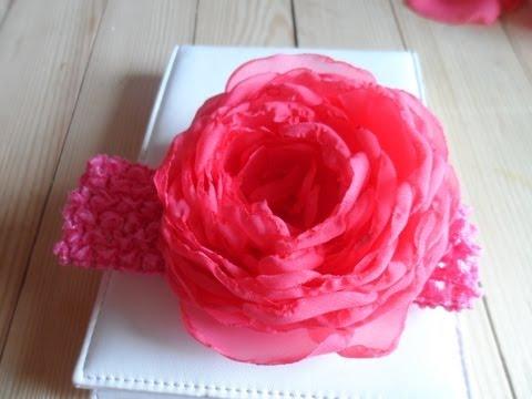 Как сделать розы из шифона