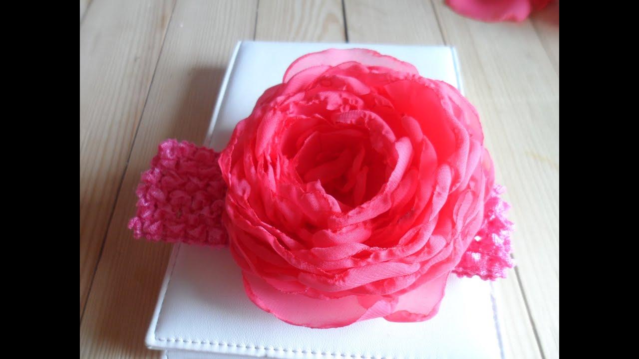 Как сделать цветок из шифона своими руками мастер класс