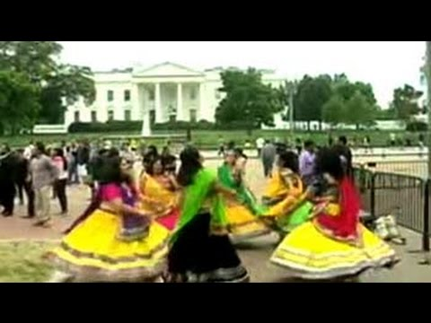 Garba dance outside the White House to welcome PM Modi