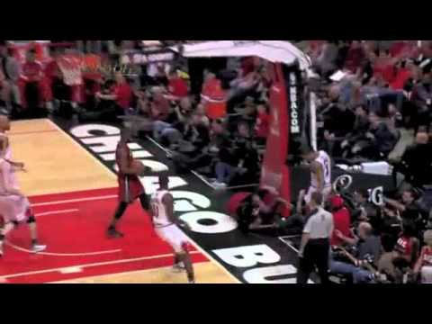 Udonis Haslem dunks on Bogans, then Rose (May 18, 2011)