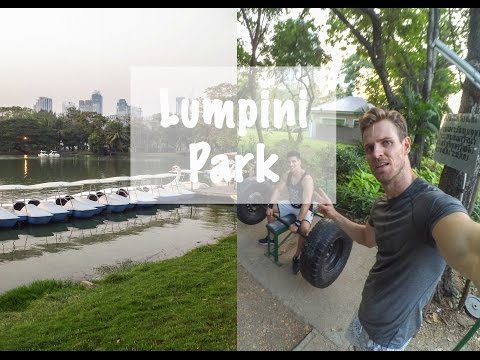 Lumpini Park Open Air Gym Workout + Lebanese Food, Bangkok - Thailand