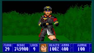 Wolfenstein 3D with The Adventure of Himmler SS.Level 29