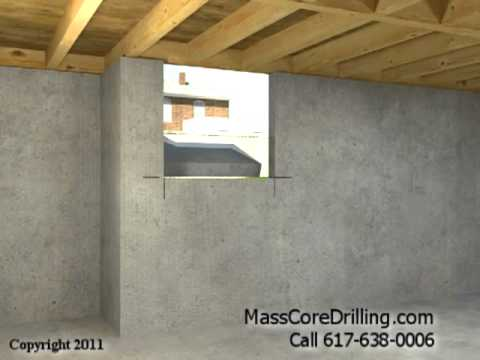 Concrete Core Drilling for Dryer Vent and Pellet Stove Boston MA