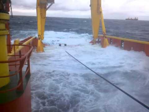 Hazardous work in Campos field Offshore Brazil