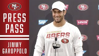 Jimmy Garoppolo Previews Week 13 against the Ravens | 49ers