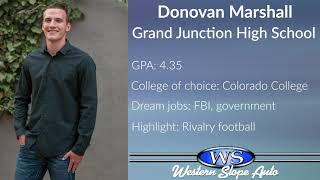 Western Slope Auto Student of the Week: Donovan Marshall