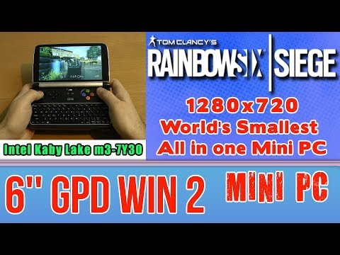 GPD WIN 2 Tom Clancy's Rainbow Six Siege - 256 GB SSD 8GB RAM Mini PC Intel m3-7Y30 HD Graphics 615