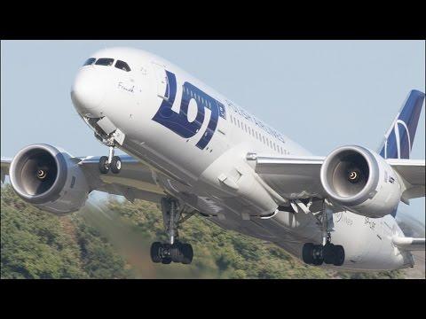 *RARE* LOT Boeing 787-8 Dreamliner Landing & Takeoff at Edinburgh Airport FULL HD