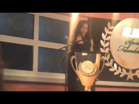 Sanya Richards Videoblogs Keynote Speech at the Jamaica Sports Banquet