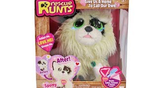 Rescue Runts Spotty Unboxing Toy Review Adopt a Dog Plush