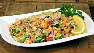 No Mayo Pasta and Tuna Salad Recipe