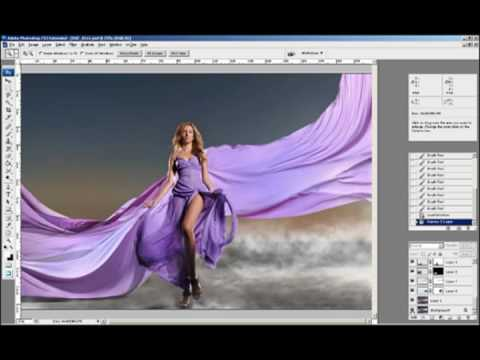 behind the scenes video and photoshop retouching