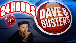 (HIGH SECURITY) 24 HOUR OVERNIGHT in DAVE AND BUSTERS | OVERNIGHT CHALLENGE in DAVE AND BUSTERS!