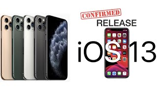 iOS 13.0 & 13.1 Release Dates CONFIRMED & iPhone 11 Announcement