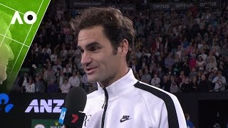 Roger Federer on court interview (3R) | Australian Open 2017