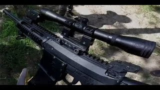 Mag Fed Paintball: M17 Elite with a Rifle Scope