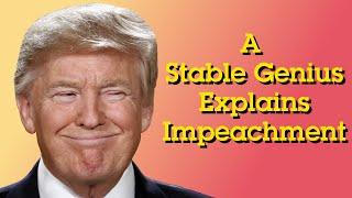 A Stable Genius Explains Impeachment