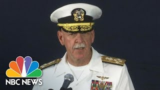 Pacific Fleet Commander Describes How Crew Responded To Warship Collision | NBC News