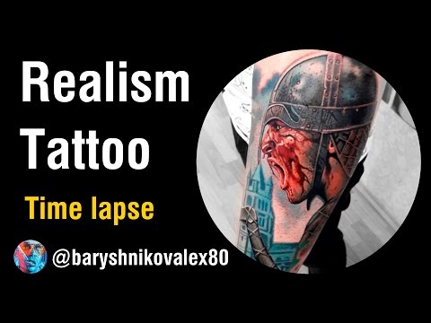 Тату реализм / Realism  Tattoo - Бьем ВИКИНГА! (Tattoo Time lapse)