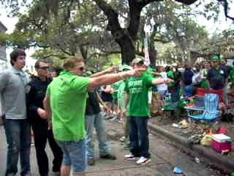 St. Patrick's Day fight on Bay Street Savannah, GA (2012)