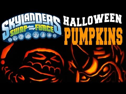 Skylanders Swap Force Halloween Pumpkin Carving w/ Fryno & Roller Brawl ♫Exclusive Music♫
