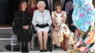 Queen Elizabeth II attends her first Fashion Week show