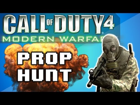 Call of Duty 4: Prop Hunt Funny Moments - Best Round Ever, Trolling Nogla, Stop Sign!