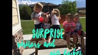 AWESOME SURPRISE VISITORS AND GIFT BASKET
