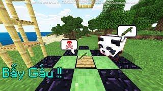 Cách Làm Bẫy Gấu Trúc Siêu Đơn Giản - Minecraft PE (BE)